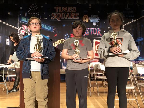 Winners of the 5th and 6th-grade spelling bee
